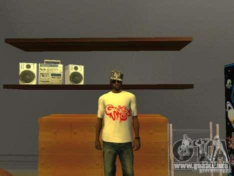 Camiseta del Gangsta para GTA San Andreas