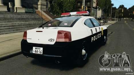 Dodge Charger Japanese Police [ELS] para GTA 4 Vista posterior izquierda