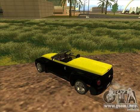 Chevrolet SSR para visión interna GTA San Andreas