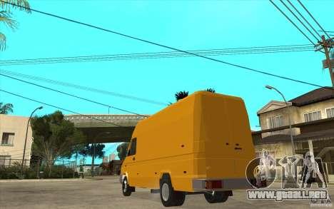 Iveco Turbo Daily para GTA San Andreas vista posterior izquierda