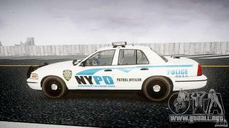 Ford Crown Victoria v2 NYPD [ELS] para GTA 4 left