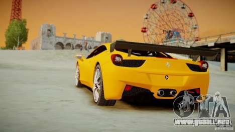 Ferrari 458 Challenge 2011 para GTA 4 vista interior