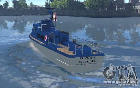 Coast Guard Patrol para GTA 4 visión correcta