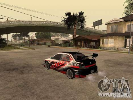 Mitsubishi Lancer Evolution 8 GReddy para GTA San Andreas left