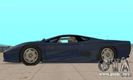Jaguar XJ220 para GTA San Andreas vista posterior izquierda