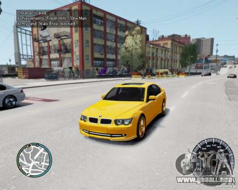 BMW Alpina B7 para GTA 4 vista hacia atrás