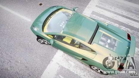 Lamborghini Gallardo para GTA 4 vista superior