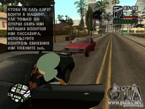 Calamardo para GTA San Andreas octavo de pantalla