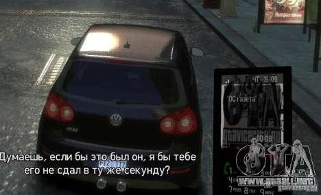 Tema GTAViceCity.RU para GTA 4 quinta pantalla