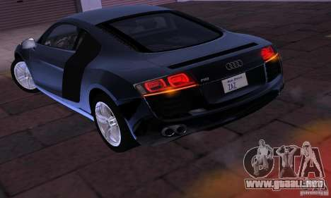 Audi R8 4.2 FSI para la visión correcta GTA San Andreas
