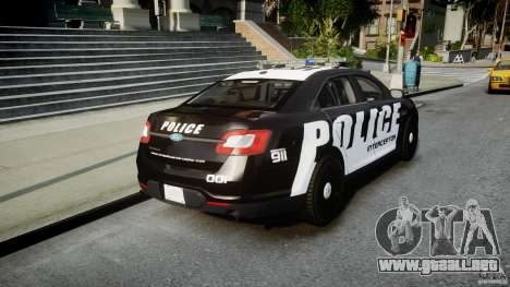 Ford Taurus Police Interceptor 2011 [ELS] para GTA 4 vista lateral