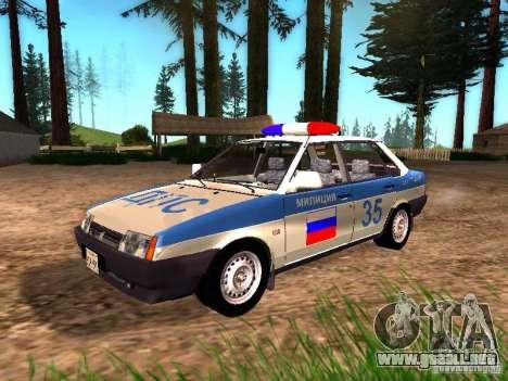 VAZ 2109 policía para GTA San Andreas