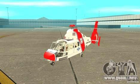 Guardacostas de Estados Unidos AS-365N para GTA San Andreas left