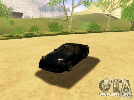Pontiac Fiero V8 para la vista superior GTA San Andreas