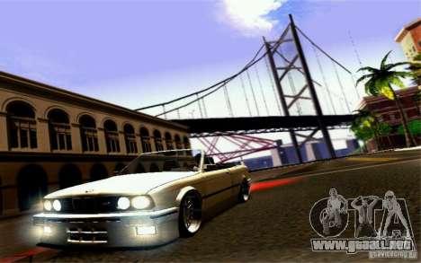 BMW E30 M3 Cabrio para vista inferior GTA San Andreas