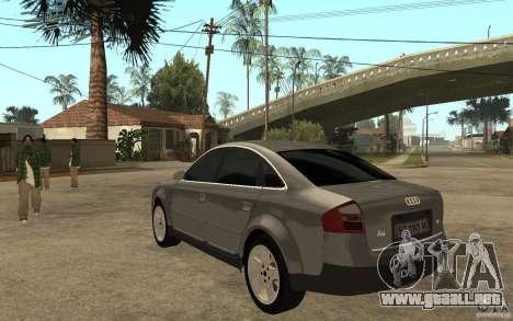 Audi A6 3.0i 1999 para GTA San Andreas vista posterior izquierda