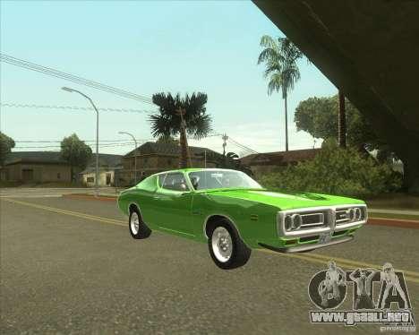 1971 Dodge Charger Super Bee para GTA San Andreas vista posterior izquierda