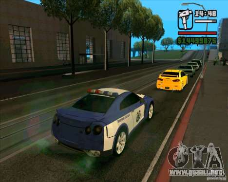 Nissan GTR35 Police Undercover para GTA San Andreas left