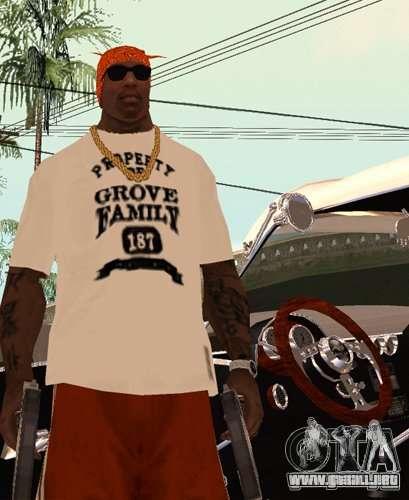 Bandas de reemplazo, tatuajes, ropa, etc.. para GTA San Andreas tercera pantalla