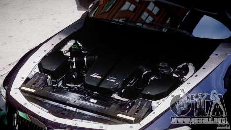 BMW M6 Orange-Black Bullet para GTA 4 vista hacia atrás