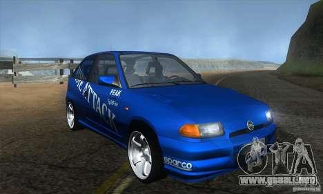 Opel Astra Time Attack para GTA San Andreas vista hacia atrás