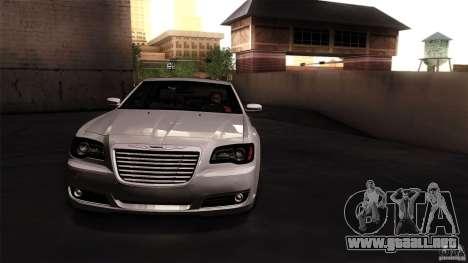 Chrysler 300C V8 Hemi Sedan 2011 para GTA San Andreas vista posterior izquierda