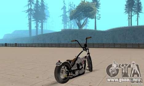 HD Shovelhead Chopper v2.1-mate para GTA San Andreas left