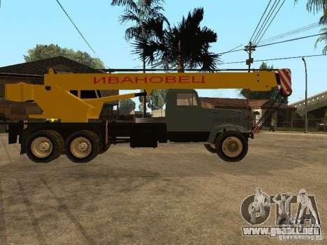 Camión KrAZ para la visión correcta GTA San Andreas