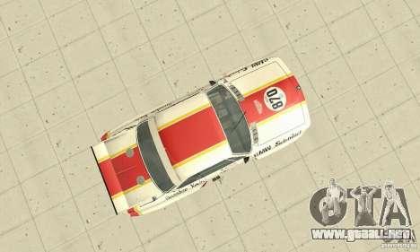 BMW 3.0 CSL Schnitzer 1975 Batmobile para la visión correcta GTA San Andreas