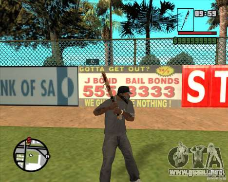 Brocas sangrientos para GTA San Andreas segunda pantalla
