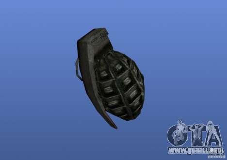 Grenade para GTA 4 segundos de pantalla