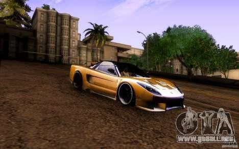 Honda NSX VielSide Cincity Edition para visión interna GTA San Andreas
