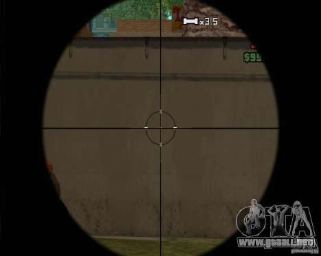 Campanas y silbatos para armas para GTA San Andreas séptima pantalla