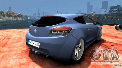 Renault Megane Coupe para GTA 4 visión correcta