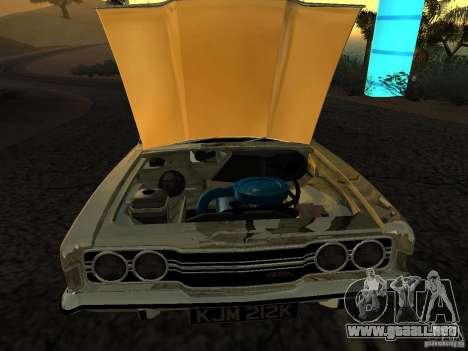 Ford Cortina MK 3 Life On Mars para GTA San Andreas vista posterior izquierda