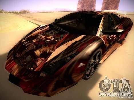 Lamborghini Reventon para vista inferior GTA San Andreas