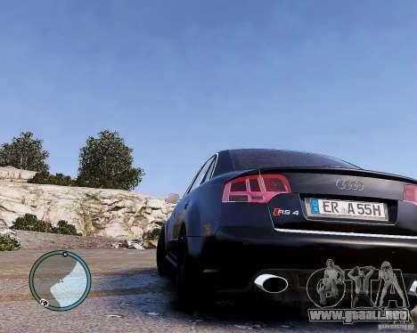 Audi RS4 para GTA 4 Vista posterior izquierda