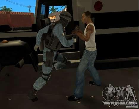 Los Angeles S.W.A.T. Skin para GTA San Andreas quinta pantalla