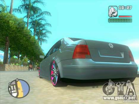 VW Bora Tuned para visión interna GTA San Andreas