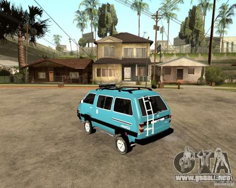 Toyota Town Ace para GTA San Andreas vista posterior izquierda