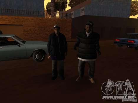 Ropa de invierno para Ballas para GTA San Andreas sexta pantalla