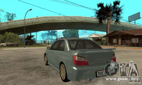 Subaru Impreza 2002 Tunable - Stock para la visión correcta GTA San Andreas
