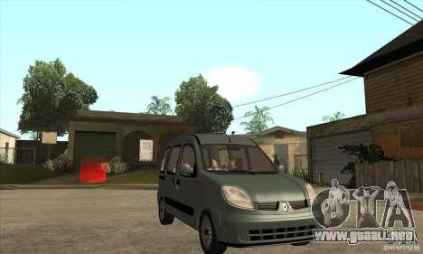 Renault Kangoo 2005 para GTA San Andreas vista hacia atrás
