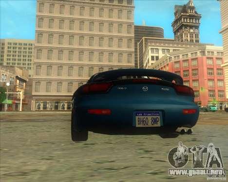 Mazda RX 7 para GTA San Andreas vista posterior izquierda