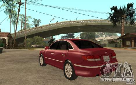 Hyundai Azera 2009 para GTA San Andreas