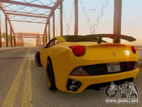 Ferrari California Hamann 2011 para la visión correcta GTA San Andreas