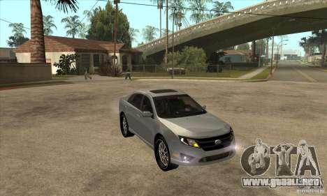 Ford Fusion V6 DUB 2011 para GTA San Andreas vista hacia atrás