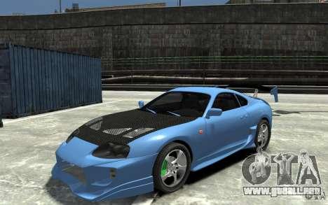 Toyota Supra Black Tuning para GTA 4