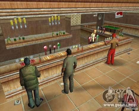 Salierys Bar para GTA San Andreas sexta pantalla