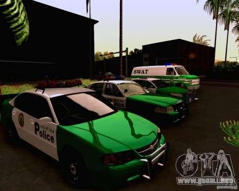 Chevrolet Impala 2003 VCPD police para visión interna GTA San Andreas
